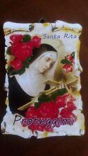 Santa Rita tavoletta legno 10 x 15cm