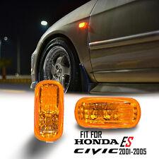For 2001-2005 Honda Civic EP3 ES Sedan Amber Lens Light LED Side Marker Lamp