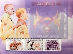 ANTIGUA 20TH WORLD SCOUT JAMBOREE STAMPS SHEET 2002 MNH BOY SCOUTS BADEN POWELL