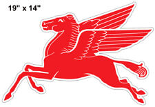 "Pegasus Flying Horse Reproduction Laser Cut Out Motor Oil Sign 14""x19"""