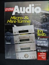 Audio extra, 12/96, DENON F 07, Uher reference 2000, panasonicsc ch 84m, Philips 372