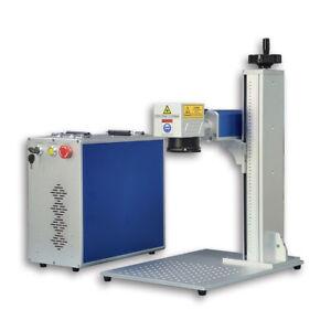 100W MOPA JPT M7 Fiber Laser Marking Machine 300×300mm Lens 80mm Rotary Axis