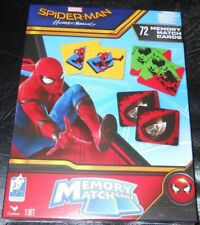 New in box Marvel Spider-Man Homecoming Memory Match Game 72 cards NIB