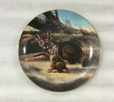 W.S. George Collector Plate - The Red Wolf - Endangered Species Series