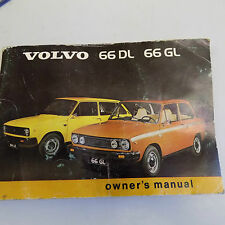 Volvo 66 owners handbook and blue vinyl Volvo pouch.