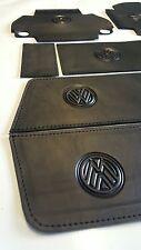 VW T5.1 Transporter 09-15. Black LEATHER/Black STITCH - 'FULL SET'- LEATHER TRIM
