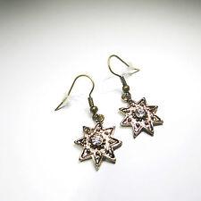 Modeschmuck-Ohrschmuck aus Gemischte Metallen mit Stern und Hakenverschluss