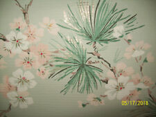 Pink and White floral design 1950's Vintage Imperial Wallpaper Roll Washable