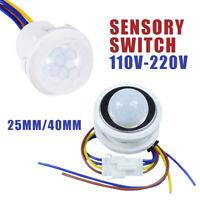 220V PIR Motion Sensor Switch IR Infrared Human body Induction Sensor Led light
