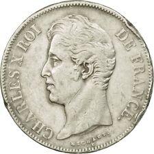 [#535999] Monnaie, France, Charles X, 5 Francs, 1828, Rouen, TB+, Argent