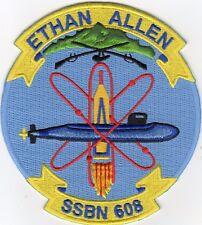 USS Ethan Allen SSBN 608 - Crest - Patch - Cat No. B793