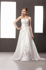 D'zage ivory wedding dress with cappucino embroidery UK 8/10
