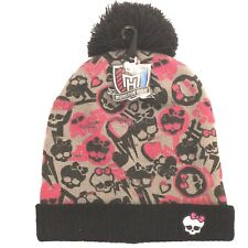 Official Monsters High Winter Knitted Bobble Hat - 7 to 12 Years - BNWT!