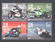 MACAU CHINA 2016 50TH MOTORCYCLE GRAND PRIX BLOCK OF 4 STAMPS IN MINT MNH UNUSED