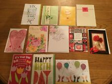 LOT OF 11 GREETING CARDS - VARIETY - BIRTHDAY, SYMPATHY, FATHERS, CONGRATULATION