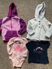 Lot of 4 Baby Girl Size 18-24 Months Clothes Carter's BabyGap Hoodie, Dinosaur