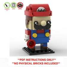 Mario Custom Lego Brickheadz - MOC - PDF INSTRUCTIONS ONLY - Super Mario Bros