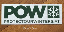 POW Protect Our Winters Outdoor snowboard Sticker Aufkleber (S166)