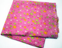 "PRETTY PINK FLORAL Fabric 1 Yard Sewing Quilting Cotton Never Used 22"" x 37"""