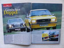 Opel Commodore GS/E & Mercedes 250 C - Titelstory - Oldtimer Markt Heft 6/2001