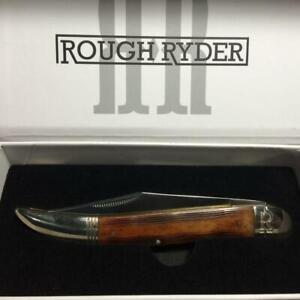 """Rough Ryder High Plains Brown Sculpted Bone Lrg Texas Toothpick Knife 5""""  RR2052"""