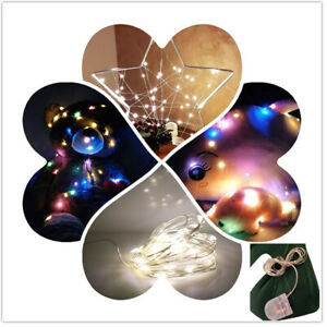 Micro LED String Lights Copper Wire Battery Powered Fairy Light Christmas Decor