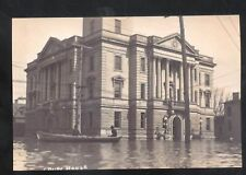 REAL PHOTO MARION OHIO 1913 FLOOD DISASTER COURT HOUSE POSTCARD COPY