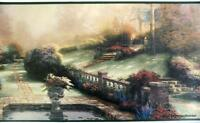Thomas Kinkade Picture Garden Beyond Autumn Gate Prepasted Wallpaper Border