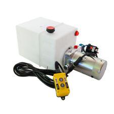 12 Volt Hydraulic Pump for Dump Trailer - 13 Quart Poly - Single Acting