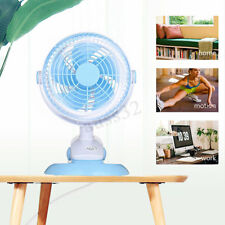 Mini Electric Clip On Cooling Fan Portable Small Table Desk Top Wall Mounted