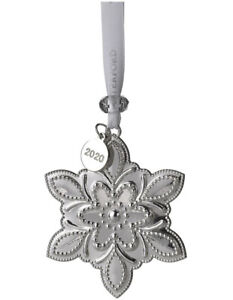 WATERFORD Silver Christmas Snowflake Decoration Ornament 2020 LIMITED 8cm