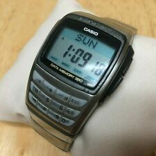 Casio EDB-610 Men Digital E-Data Memory Calculator Quartz Watch Hour~New Battery