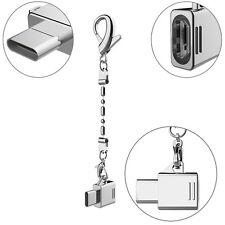 USB 3.1 Type C Stecker auf Micro USB Buchse Adapter Konverter Mit Metallkette