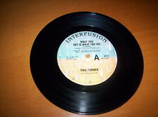 "TINA TURNER ""WHAT YOU GET IS WHAT YOU SEE""  SINGLE MIX   7 INCH 45 1986"