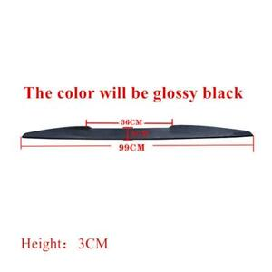 Universal Rear Trunk Car Spoiler Lip Tail Wing Lid Sticker Glossy Black 99CM