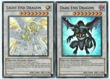 Yugioh Light End Dragon + Dark End Dragon super rare cards x2 RYMP