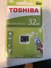 Toshiba 32GB Micro SDHC Memory Card UHS-I Card. 100 MB/s. M203