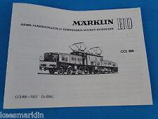 Marklin CCS 800 Krokodil  Replica booklet 0356