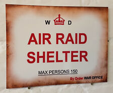 Air raid shelter ww2 Retro metal Aluminium Sign vintage bar pub man cave beer