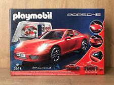 NEW Playmobil 3911 Porsche 911 Carrera S  With Lights & Workshop Toy Car Kids