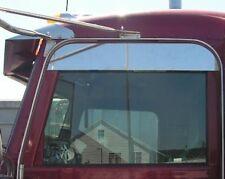 PETERBILT STAINLESS STEEL RAIN GUARD CHOP TOP WINDOW TRIM/ SLIMLINE  P-1068
