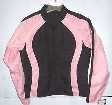 NexGen Textile Lightweight Motorcycle Jacket Black/Light Pink Womens Large
