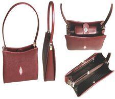 Stingray Red Handbag, Red Stingray Purse, Stingray Leather Red Purse/Evening Bag