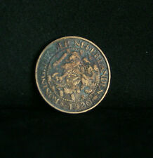 1920 Netherlands 1 Cent Bronze World Coin KM152 Lion with sword animal