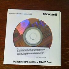 Office Basic Ediition 2003 softcase with CD