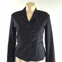NEW Talbots blazer 12 petite Large classic black wool bl pocket suit jacket $199