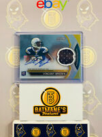 2011 Bowman Sterling Topps Vincent Brown BSAR-VB Jersey Auto RC Rookie NM/M MINT