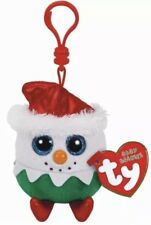 """Ty Baby Beanies EGGNOG the Christmas 2017 Key Clip 3"""" Size NEW"""