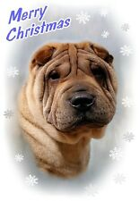 Shar Pei Dog A6 Christmas Card Design XSHAR-4 by paws2print