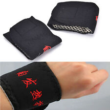 2 Pcs Magnetic Therapy Wrist Brace Belt Spontaneous Heating Strap Band O5L JX